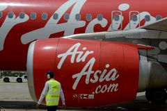 AVION AIR ASIA DU CAMBODGE SIEM REAP Photographie stock libre de droits