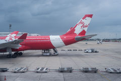 Avion Airbus 320 d'Air Asia Photographie stock