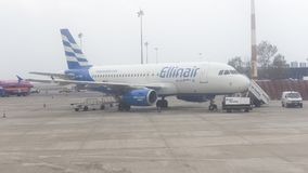 Avion Airbus A319-132 des lignes aériennes d'Ellinair Photos stock