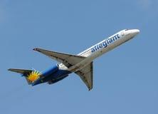 Avion Allegiant d'avion à réaction d'air Images libres de droits