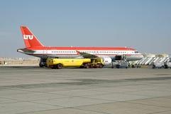 Avion allemand dans l'aéroport de Hurghada Égypte Images stock