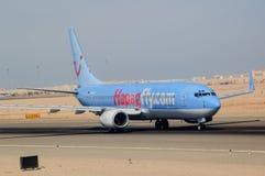 Avion allemand dans l'aéroport de Hurghada Égypte Images libres de droits