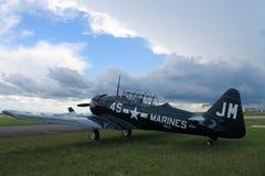 Avion américain de formation de combattant de vieux combattant Photo stock