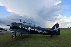 Avion américain de formation de combattant de vieux combattant Photographie stock libre de droits