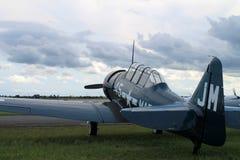 Avion américain de formation de combattant de vieux combattant Images libres de droits