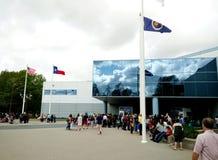 Avion au centre spatial de Houston photo stock