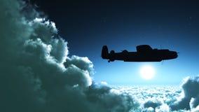 Avion au-dessus des montagnes illustration de vecteur