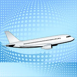 Avion aux cieux Image libre de droits