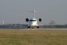 Avion avant déviation Photographie stock libre de droits