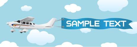 Avion avec le vecteur blanc de drapeau illustration de vecteur