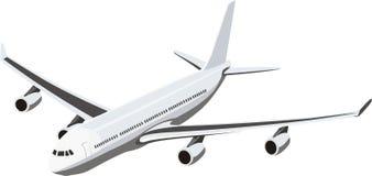 Avion avec quatre turbines Photo libre de droits