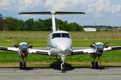 Avion bimoteur Photo libre de droits