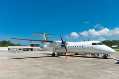 Avion blanc image libre de droits