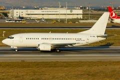 Avion blanc sans titre de Boeing Image stock