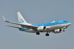 Avion Boeing 737-700 de KLM Photo libre de droits
