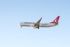 Avion Boeing 737-8F2 de Turkish Airlines Photo libre de droits