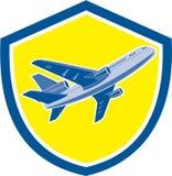Avion commercial Jet Plane Airline Retro illustration stock