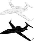Avion commercial léger illustration stock