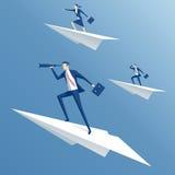 Avion d'équipe et de papier image libre de droits