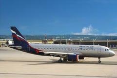 Avion d'Aeroflot, compagnie de compagnies aériennes russe   Image stock