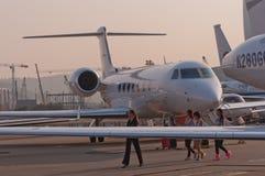 Avion d'affaires de cerfs communs Photos stock