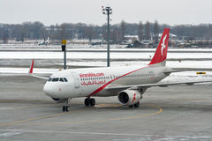Avion d'Air Arabia dans l'aéroport de Boryspil Kiev, Ukraine Photo stock