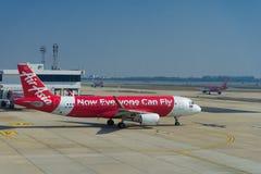 Avion d'Air Asia Airbus A320 Images libres de droits