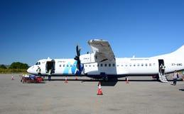 Avion d'air de Fmi à l'aéroport de Heho Banlieue noire de Kalaw Secteur de Taunggyi L'État Shan myanmar Photographie stock libre de droits