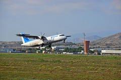 Avion d'Air Europa à l'aéroport d'Alicante Images libres de droits