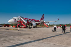 Avion d'AirAsia photos stock