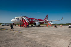 Avion d'AirAsia images stock