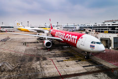 Avion d'AirAsia Photo libre de droits
