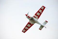 Avion d'Airsow sur le ciel photographie stock