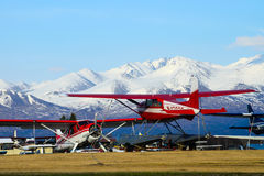 Avion d'Alaska de flotteur Images stock