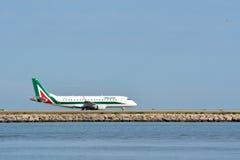Avion d'Alitalia Images libres de droits