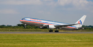 Avion d'American Airlines Photo stock