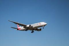 Avion d'American Airlines Photo libre de droits