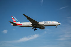Avion d'American Airlines Images stock
