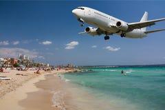 Avion d'atterrissage Photo stock