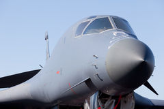 Avion d'avion à réaction de bombardier du lancier B-1 photo libre de droits