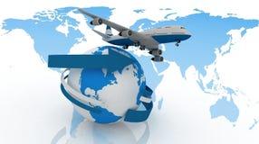 Avion d'avion de passagers illustration de vecteur
