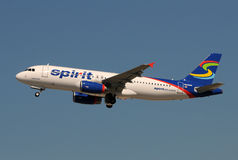 Avion d'avion de passagers de compagnies aériennes d'esprit Photographie stock