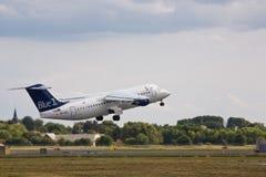 Avion d'Avro RJ Images stock