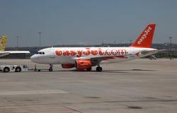 Avion d'EasyJet Photographie stock libre de droits