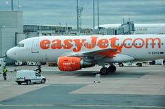 Avion d'EasyJet A-319 Photographie stock libre de droits