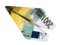 Avion d'euro d'argent Photographie stock libre de droits