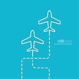 Avion d'icône illustration stock