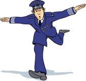 Avion d'imitation de pilote d'air Photos libres de droits