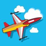 Avion dans le ciel Photos libres de droits