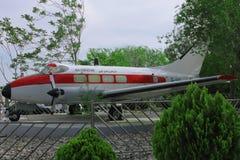Avion dans le musée d'automobile à Amman photographie stock